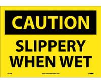 Caution Slippery When Wet 10X14 Ps Vinyl