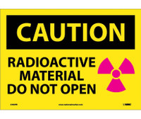 Caution Radioactive Material Do Not Open Graphic 10X14 Ps Vinyl