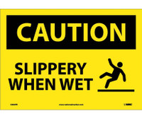 Caution Slippery When Wet Graphic 10X14 Ps Vinyl