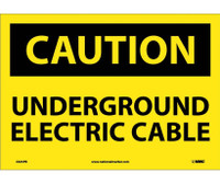 Caution Underground Electric Cable 10X14 Ps Vinyl