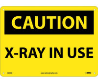Caution X-Ray In Use 10X14 .040 Alum