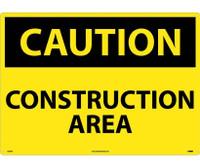Caution Construction Area 20X28 .040 Alum