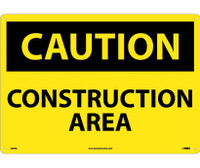 Caution Construction Area 14X20. Rigid Plastic