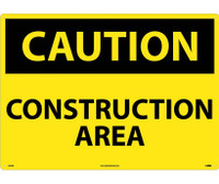 Caution Construction Area 20X28 Rigid Plastic