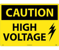 Caution High Voltage Graphic 20X28 Rigid Plastic