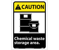 Caution Chemical Waste Storage Area 14X10 Ps Vinyl