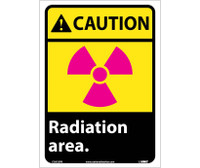 Caution Radiation Area 14X10 Ps Vinyl