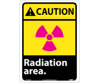 Caution Radiation Area 14X10 Rigid Plastic