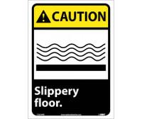 Caution Slippery Floor 14X10 Ps Vinyl