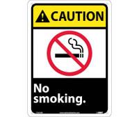 Caution No Smoking (W/Graphic) 14X10 .040 Alum