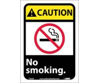 Caution No Smoking (W/Graphic) 10X7 Ps Vinyl