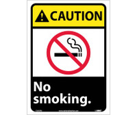 Caution No Smoking (W/Graphic) 14X10 Ps Vinyl