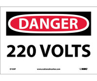 Danger 220 Volts 7X10 Ps Vinyl
