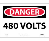 Danger 480 Volts 7X10 Ps Vinyl