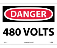Danger 480 Volts 10X14 Ps Vinyl