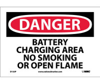 Danger Battery Charging Area No Smoking Or Open. . . 7X10 Ps Vinyl
