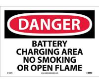 Danger Battery Charging Area No Smoking Or Open. . . 10X14 Ps Vinyl