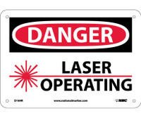 Danger Laser Operating 7X10 Rigid Plastic