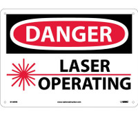 Danger Laser Operating 10X14 Rigid Plastic