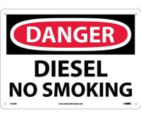 Danger Diesel No Smoking 10X14 .040 Alum