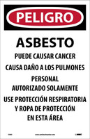 Danger Asbestos Dust Hazard. . .(Spanish) 17X11 Paper 100/Pk