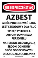 Danger Asbestos Dust Hazard (Polish) 17X11 Paper 100/Pk