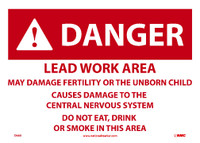 Danger Lead Work Area 10X14 Paper 100/Pk