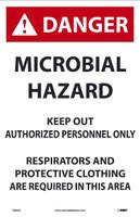 Danger Microbial Hazard 17X11 Paper 100/Pk