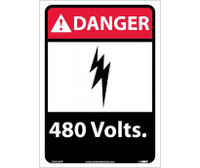 Danger 480 Volts 14X10 Ps Vinyl