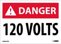 Danger 120 Volts 2.5X3.5 Ps Vinyl 5/Pk