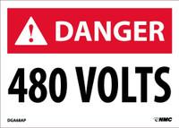 Danger 480 Volts 2.5X3.5 Ps Vinyl 5/Pk