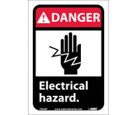 Danger Electrical Hazard (W/Graphic) 10X7 Ps Vinyl