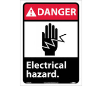 Danger Electrical Hazard (W/Graphic) 14X10 Ps Vinyl