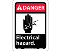 Danger Electrical Hazard (W/Graphic) 10X7 Rigid Plastic