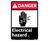 Danger Electrical Hazard (W/Graphic) 14X10 Rigid Plastic