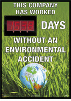 Digital Scoreboard This Company Has Worked Days Without An Environmental Accident