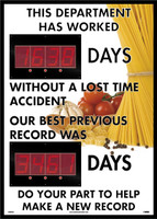 Digital Scoreboard This Department Has Worked Days Without A Lost Time Accident The Best Previous Record Was Days Do Your Part Help Make A New Record 2 Leds Food Image