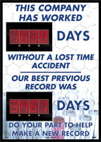 Digital Scoreboard This Company Has Worked Days Without A Lost Time Accident The Best Previous Record Was Days  Do Your Part Help Make A New Record 2 Leds Science Image