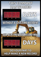 Digital Scoreboard,This Company Has Worked Days Without A Lost Time Accident Our Best Previous Record Was Days Do Your Part To Make A New Record 2 Leds Construction Image