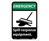 Emergency Spill Response Equipment (W/Graphic) 10X7 Ps Vinyl