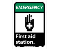 Emergency First Aid Station (W/Graphic) 10X7 Ps Vinyl