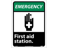 Emergency First Aid Station (W/Graphic) 14X10 Ps Vinyl