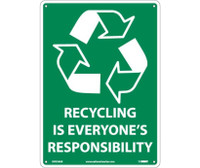 (Graphic)Recycling Is Everyone'S Responsibility 14X10 .040 Alum