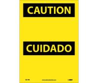 Caution (Header Only) (Bilingual) 14X10 Ps Vinyl