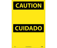 Caution (Header Only) (Bilingual) 20X14 Ps Vinyl