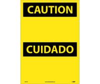 Caution (Header Only) (Bilingual) 20X14 Ps Vinyl