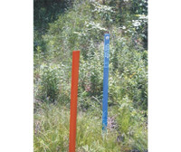Utility Pole Red 4 Foot Polymer