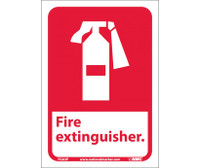 Fire Extinguisher (W/Graphic) 10X7 Ps Vinyl