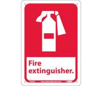 Fire Extinguisher (W/Graphic) 10X7 Rigid Plastic