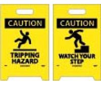 Floor Sign Dbl Side Caution Tripping Hazard Caution Watch Your Step 19X12